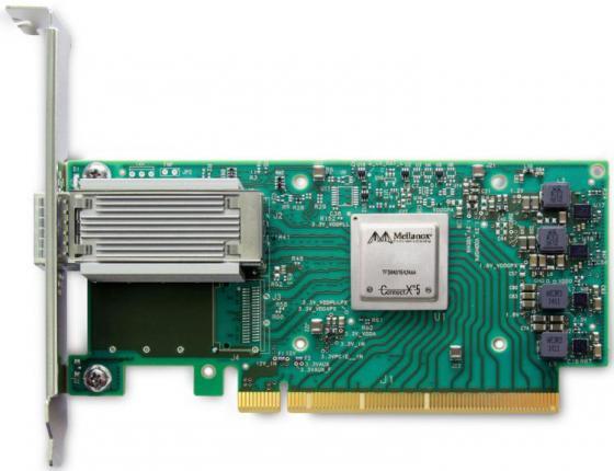 ConnectX®-5 VPI adapter card, EDR IB (100Gb/s) and 100GbE, single-port QSFP28, PCIe3.0 x16, tall bracket, ROHS R6