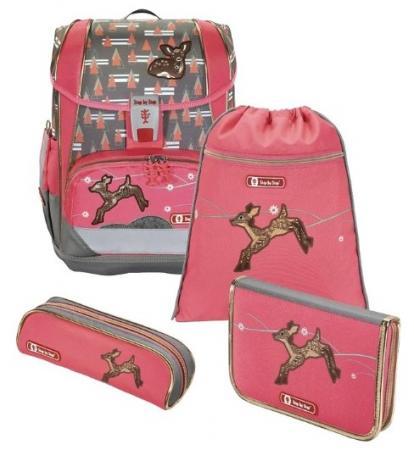цена на Ранец светоотражающие материалы Step by Step Light2 Modern Deer 18 л серый розовый
