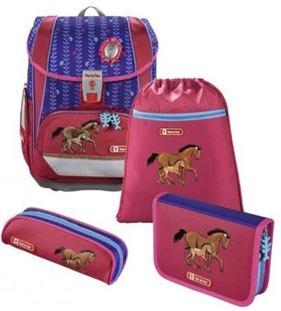 Ранец светоотражающие материалы Step by Step Light2 Lucky Horses 18 л розовый синий цена и фото
