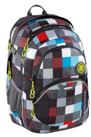 Рюкзак светоотражающие материалы Coocazoo Checkmate Blue Red 30 л серый голубой
