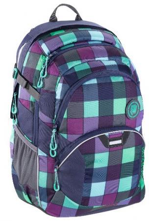 Рюкзак светоотражающие материалы Coocazoo Green Purple District 30 л бирюзовый синий