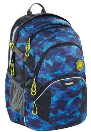 Рюкзак светоотражающие материалы Coocazoo Brush Camou 30 л синий черный школьный рюкзак светоотражающие материалы coocazoo carrylarry2 green purple district 30 л синий бирюзовый 00138740