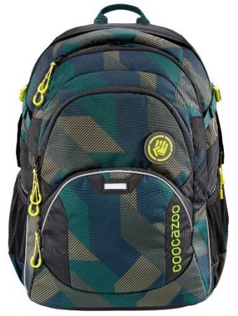 Рюкзак светоотражающие материалы Coocazoo JobJobber2 Polygon Bricks 30 л темно-зеленый серый рюкзак светоотражающие материалы coocazoo jobjobber2 holiman 30 л бирюзовый розовый