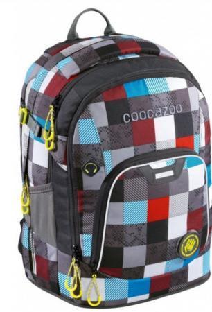 Рюкзак светоотражающие материалы Coocazoo Ray Day Checkmate Blue Red 24 л бирюзовый серый ранец светоотражающие материалы tiger family весна 14 л розовый
