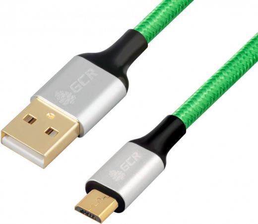 Фото - Кабель microUSB 0.5м Green Connection 33-050575 круглый зеленый кабель vga 1м green connection 33 050610 круглый черный