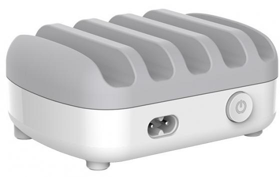 Зарядное устройство Orico DUK-5P-WH 2.4А 5 х USB белый автомобильное зарядное устройство orico uch q3 wh 2x2 4a 2a qc3 0 usb белый