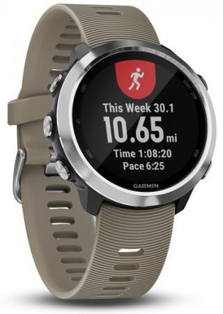 """Смарт-часы Garmin Forerunner 645 Sandstone 42.5мм 1.2"""" TFT черный/серебристый (010-01863-11) стоимость"""