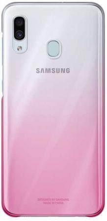 Чехол (клип-кейс) Samsung для Samsung Galaxy A30 Gradation Cover розовый (EF-AA305CPEGRU)