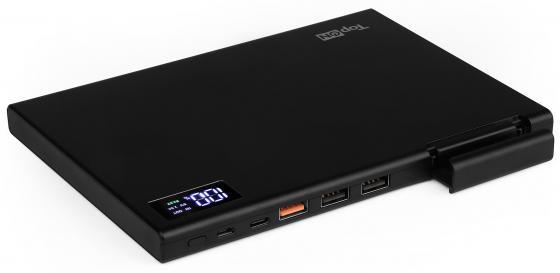 Внешний аккумулятор Power Bank 30000 мАч TopON TOP-MAX2 черный аккумулятор topon top air 6500 mah 24wh универсальный