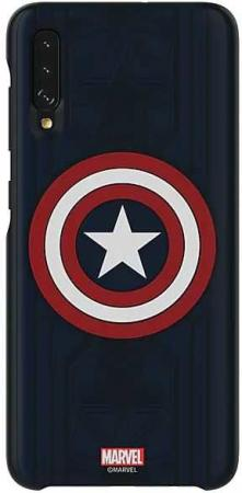 Чехол (клип-кейс) Samsung для Galaxy A70 Marvel Case Captain America узор (GP-FGA705HIALW)