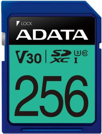 Флеш карта SD 256GB A-DATA Premier Pro SDXC Class 10 UHS-I U3 V30S 95/60 MB/s a data micro sd