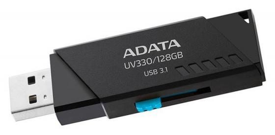Флешка 128Gb A-Data AUV330-128G-RBK USB 3.1 черный флешка usb 128gb a data uv150 usb3 0 auv150 128g rbk черный