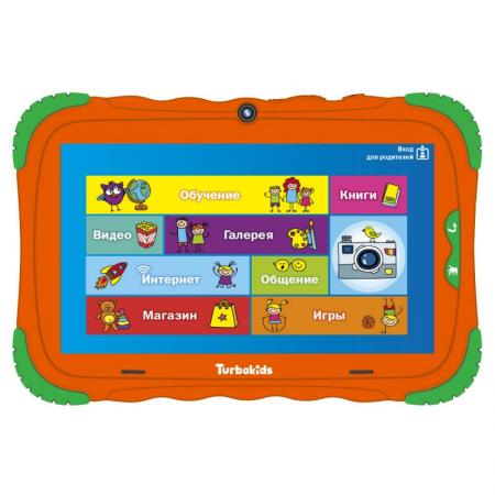 "все цены на Планшет Turbo TurboKids S5 7"" 16Gb Orange Wi-Fi Bluetooth Android РТ00020505 онлайн"