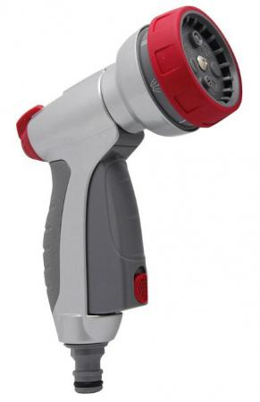 Пистолет-распылитель FRUT CLUB 402197 многофункциональный с регулятором напора 7 режимов видер frut club 401205