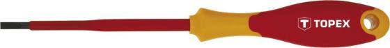 Отвертка шлицевая диэлектрическая TOPEX 39D472 шлицевая отвертка 6 5x100 wiha softfinish 00704