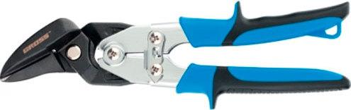 Ножницы по металлу GROSS 78351 усиленные 255мм прямой и правый резсталь-СrMo двухкомп.рукоятки metal shears gross 78351