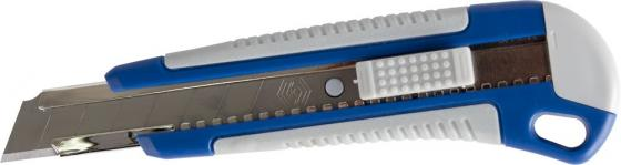 Нож КОБАЛЬТ 242-137 технический лезвие 18мм двухкомпонентный корпус металлическая направляющая