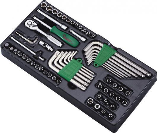 Набор инструментов HANS TT-22 ложемент насадки головки шестигранники 1/4 62шт