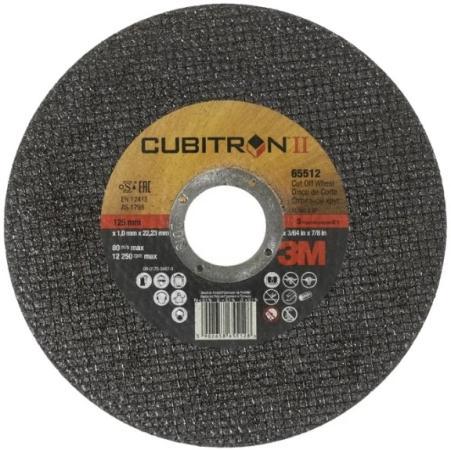 Круг отрезной 3M Cubitron II 125 мм х 1 мм х 22 мм, 65512 круг отрезной кратон a36sbf o230 х 22 2 х 2 мм по нержавеющей стали 1 07 05 008