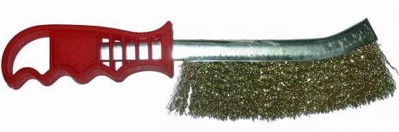 Кордщетка SKRAB 35301 с изогнутой ручкой латунная для удаления ржавчины цена
