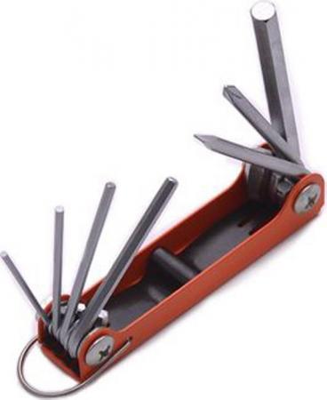 Набор HARDEN 540610 ключей имбусовых hex 1.5-8мм crv складные сатин 7 шт