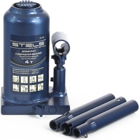 цена на Домкрат STELS 51116 гидравлический бутылочный телескопический 4 т h подъема 170–420мм