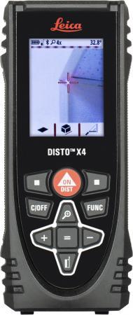 Лазерный дальномер Leica Disto X4 0.05-150м, Bluetooth, ±1.0мм, IP 65, лазерный дальномер leica disto x4