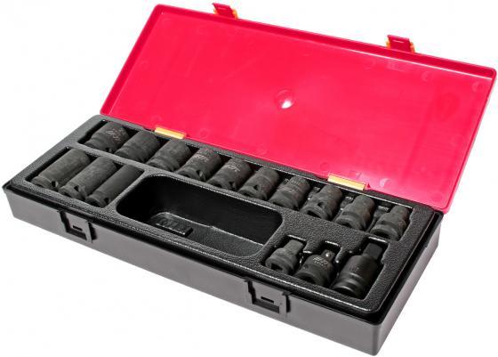 Набор головок JTC K4161 ударных 6-гранных 1/2 10-24мм в кейсе 16пр. набор для тестирования герметичности системы охлаждения двигателей грузовых автомобилей в кейсе jtc 4150