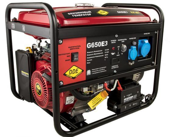 Генератор бензиновый DDE G650E3 (917-446) 1+3ф 6,0/6,5 кВт бак 25 л 89 кг дв-ль 14 л.с.элстарт цена 2017