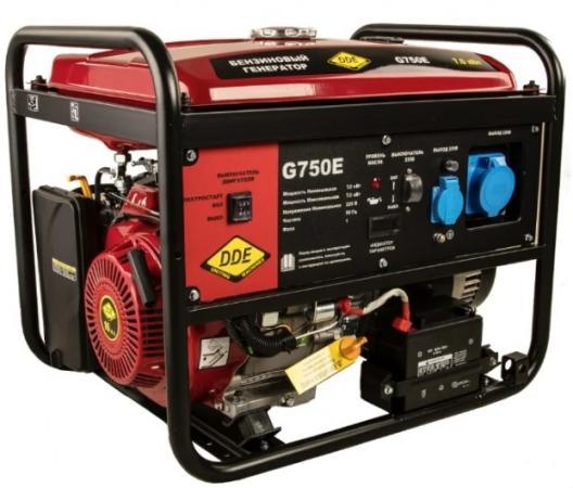 Генератор бензиновый DDE G750E (917-460) 1ф 7,0/7,5 кВт бак 25 л 92 кг дв-ль 15 л.с элстарт цена 2017