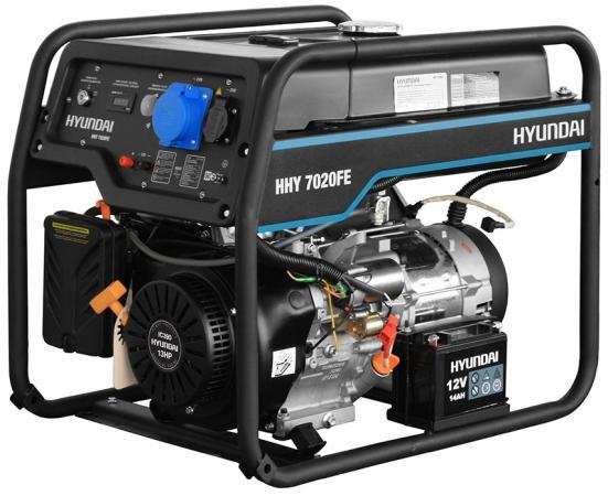 Генератор HYUNDAI HHY 7020FE бензиновый бензиновый генератор hyundai hhy 7020fe 5000 вт