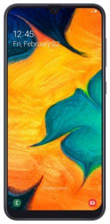 Смартфон Samsung Galaxy A30 черный 6.4 64 Гб NFC LTE Wi-Fi GPS 3G Bluetooth SM-A305FZKOSER смартфон samsung galaxy s8 sm g950f 64gb жёлтый топаз