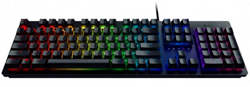Клавиатура проводная Razer HUNTSMAN-Opto-Mechanical Gaming Keyboard USB черный RZ03-02521100-R3R1 клавиатура razer blackwidow tournament 2014 черный rz03 00811900 r3r1