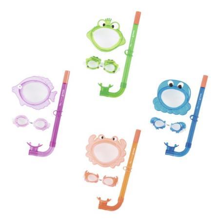 цена на набор для ныряния Обитатели моря (маска, очки, трубка) от 3лет 4 диз. в асс-те