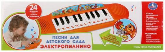 Электропианино.12 стихов М.Дружининой,12 песен,звуки животных, муз.инструментов.ТМ УМКАв кор2*60шт