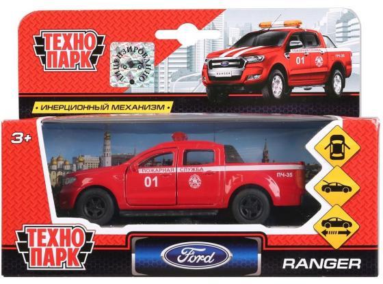 Пожарная машина ТЕХНОПАРК FORD Ranger «Пожарная служба» 1:44 красный набор машинок siku пожарная служба 1818rus