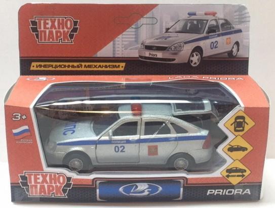 Машина металл LADA Priora хэтчбек полиция 12см, открыв. двери, инерц. в кор. Технопарк в кор.2*24шт машины технопарк машина lada granta полиция