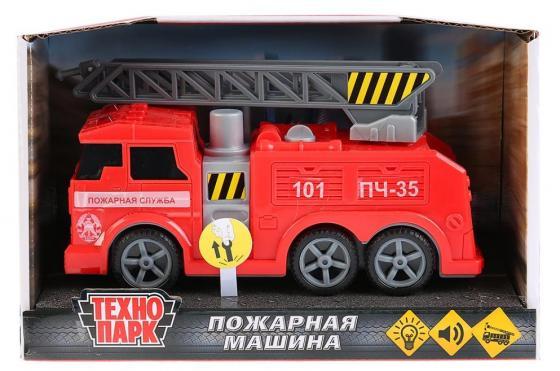 Машина ТЕХНОПАРК ПОЖАРНАЯ МАШИНА 17 см красный