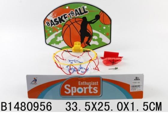 Купить НАБОР ДЛЯ ИГРЫ В БАСКЕТБОЛ (ЩИТ 33, 5Х25СМ ПЛАСТИК, МЯЧ 7СМ) В ПАК. в кор.2*72шт, Shantou, Детские наборы для баскетбола