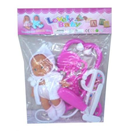 Набор доктора Наша Игрушка с куклой 7 предметов