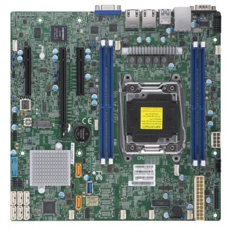 Материнская плата Supermicro MBD-X11SRM-F-O Socket 2066 Intel C422 4xDDR4 1xPCI-E 16x 2xPCI-E 8x 8 mATX материнская плата supermicro mbd x10sle f p socket 1150 c224 4xddr3 1xpci e 8x 4xsataiii нестандартный