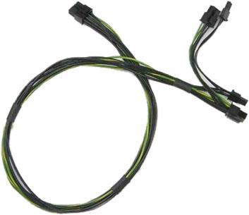8 pin to two 6+2 12V GPU 65cm power cable