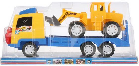 Трейлер инерц. с трактором, цвет в ассорт. в пласт. в кор.2*36шт, Shantou, Детские модели машинок  - купить со скидкой