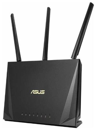купить Беспроводной маршрутизатор ASUS RT-AC85P 802.11abgnac 2333Mbps 2.4 ГГц 5 ГГц 4xLAN USB черный 90IG04X0-MN3G00 дешево