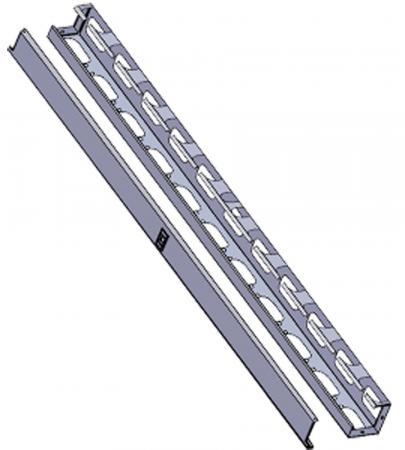 лучшая цена 42U Вертикальный кабельный органайзер для шкафов Evoline, серый