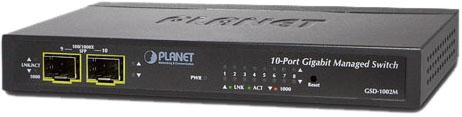 IPv4/IPv6 Managed 8-Port 10/100/1000Mbps + 2-Port 100/1000X SFP Gigabit Desktop Ethernet Switch (POE PD, External PWR)