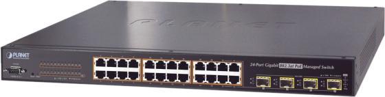 IPv6 L2+/L4 Managed 24-Port 802.3at PoE+ Gigabit Ethernet Switch + 4-Port Shared SFP (440W) коммутатор edge core ecs 4810 12m 12 port 10 100 1000base t combination rj 45 sfp port l2 gigabit ethernet switch