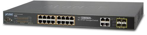 IPv6 Managed 16-Port 802.3at PoE Gigabit Ethernet Switch + 4-Port SFP (230W)