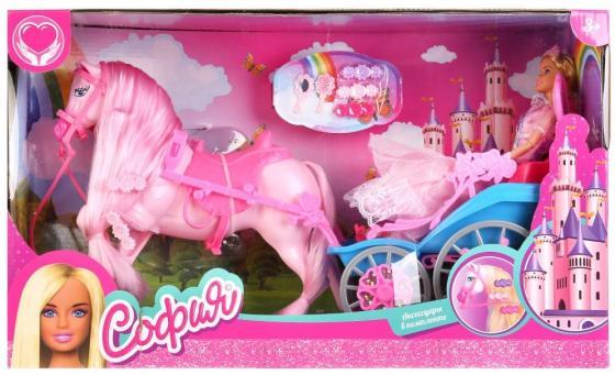 Игровой набор КАРАПУЗ Принцесса София с лошадью и каретой 29 см шарнирная набор посуды принцесса софия bildo