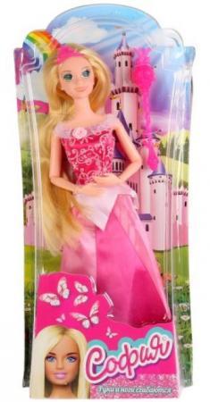 Кукла КАРАПУЗ София принцесса в розовом платье 29 см шарнирная